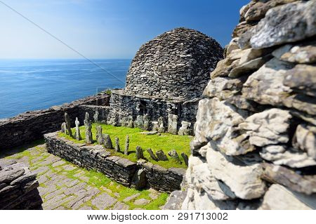 Skellig Michael Or Great Skellig, Home To The Ruined Remains Of A Christian Monastery, Country Kerry