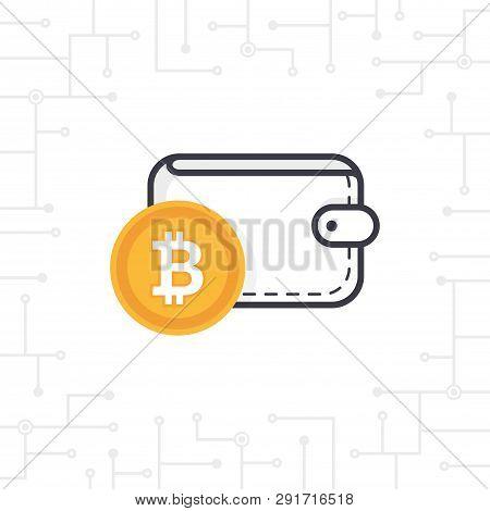 Bit-coin Wallet On White Background