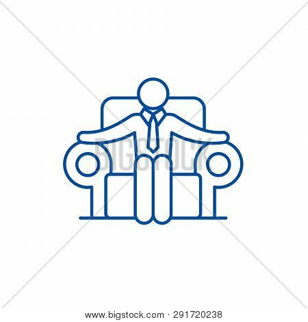 Ceo Line Icon Concept. Ceo Flat  Vector Symbol, Sign, Outline Illustration.