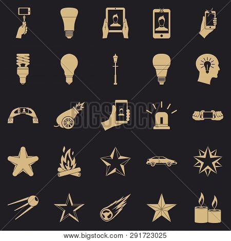 Flicker Icons Set. Simple Set Of 25 Flicker Vector Icons For Web For Any Design