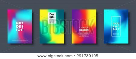 Colorful Modern Abstract Background With Neon Red, Green, Blue, Purple, Yellow And Pink Gradient. Dy