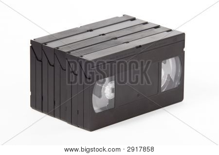 Vhs Cassette On White Background