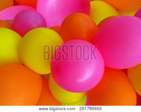Background Of A Set Of Colored Balloons