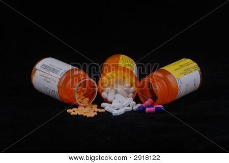 Perscription Medikamente Flaschen