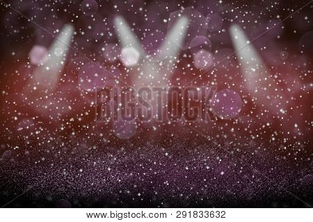 Wonderful Sparkling Abstract Background Stage Spotlights With Sparks Fly Defocused Bokeh - Festal Mo