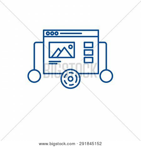 Website Prototyping Line Icon Concept. Website Prototyping Flat  Vector Symbol, Sign, Outline Illust