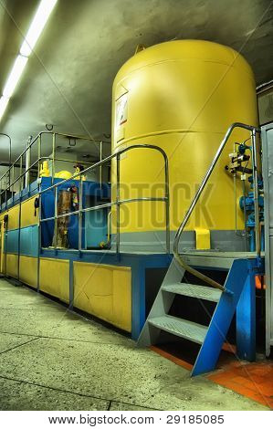Industrial interior.Hydroelectric power station. Kiev (Vyshgorod),Ukraine
