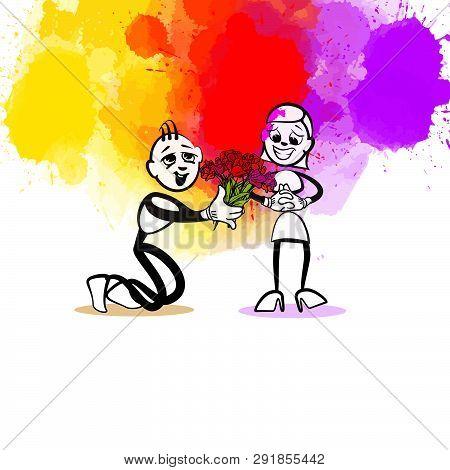 Compliment Illustration. Hand-drawn Vector Illustration, Creative Backdrops Series.