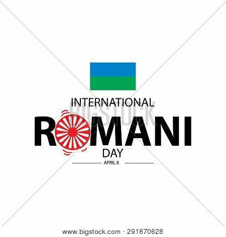 Vector Illustration International Romani Day Concept. April 8