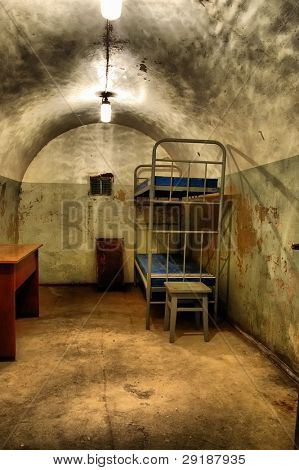 Military bunker.Soviet.Builded before WW2.After WW2 used as fallout shelter foe local Communist Party leaders.Korosten.Town near Chernobul area.Ukraine.