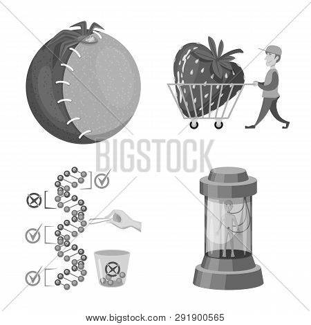 Isolated Object Of Transgenic And Organic Sign. Set Of Transgenic And Synthetic Vector Icon For Stoc