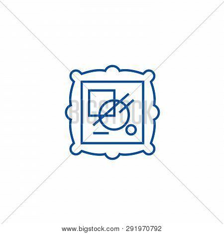 Fine Art Line Icon Concept. Fine Art Flat  Vector Symbol, Sign, Outline Illustration.