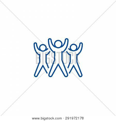 Fitness Group, Aerobics Line Icon Concept. Fitness Group, Aerobics Flat  Vector Symbol, Sign, Outlin