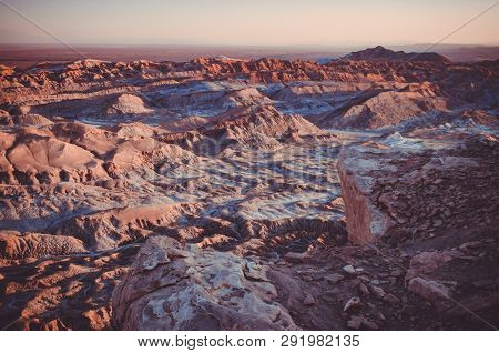 The Atacama Desert, In Spanish Desierto De Atacama, Is A Desert Plateau In South America Covering A