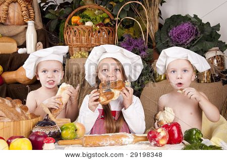 Children In A Chef's Hats