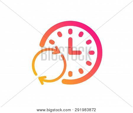 Time Icon. Update Clock Or Deadline Symbol. Time Management Sign. Classic Flat Style. Gradient Updat