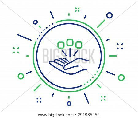 Consolidation Line Icon. Business Strategy Sign. Quality Design Elements. Technology Consolidation B