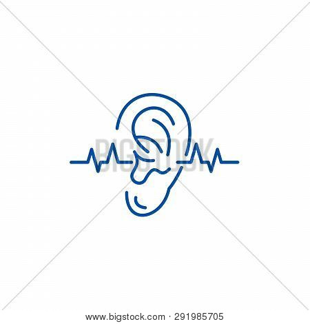Hearing Test Line Icon Concept. Hearing Test Flat  Vector Symbol, Sign, Outline Illustration.