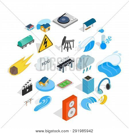 Might Icons Set. Isometric Set Of 25 Might Icons For Web Isolated On White Background