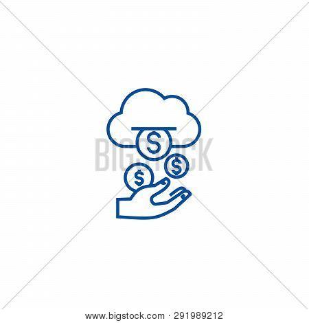 Income, Passive Stream, Money Line Icon Concept. Income, Passive Stream, Money Flat  Vector Symbol,