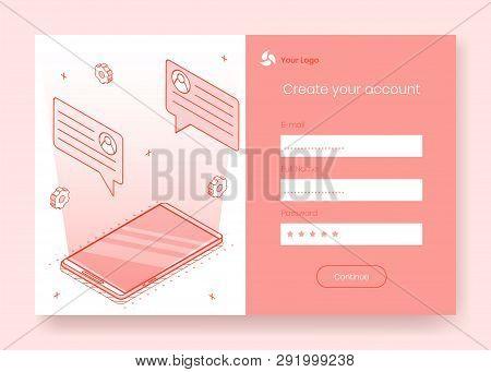 Digital Isometric Vector & Photo (Free Trial) | Bigstock