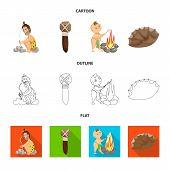 Vector design of evolution  and prehistory logo. Set of evolution  and development  vector icon for stock. poster