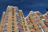 Typical modern residential building in Kiev, Ukraine (Malorussia) poster
