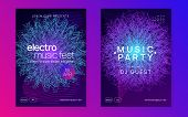 Dj flyer. Dynamic gradient shape and line. Digital concert magazine set. Neon dj flyer. Electro dance music. Electronic sound event. Club fest poster. Techno trance party. poster