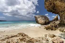 Beach On The North End Of The Island Of Bonaire.