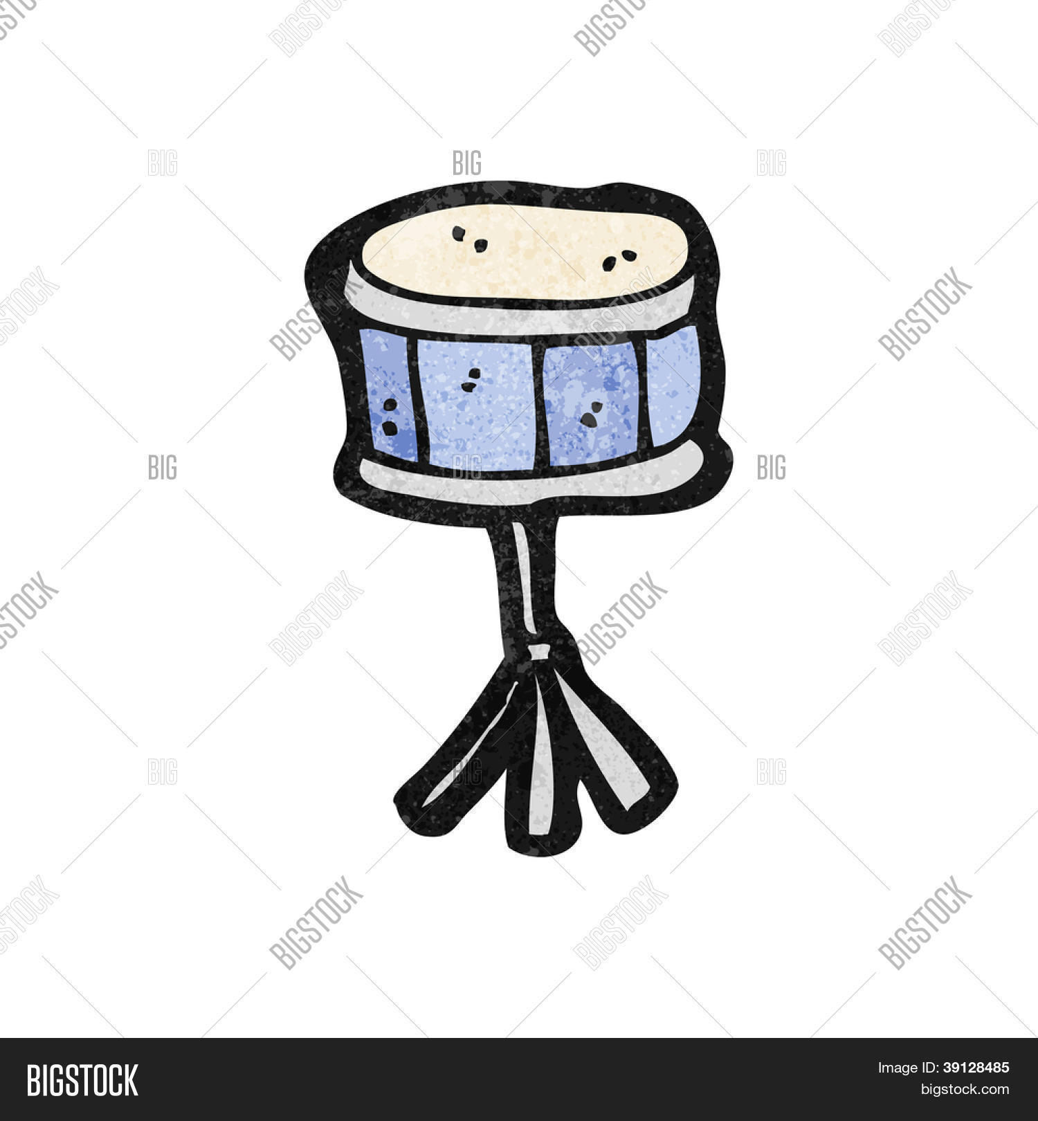 Cartoon Snare Drum Vector Photo