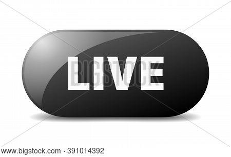 Live Button. Live Sign. Key. Push Button.