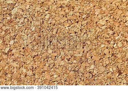 Brown Color Of Cork Board. Textured Wooden Background. Cork Board With Copy Space. Notice Board Or B