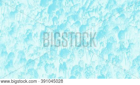 Blue White Abstract Background With Hyacinths Flowers Pattern. Floral Patchy Panorama Background, Pa