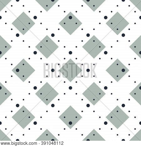 Abstract Dotted Crossed Lines Seamless Pattern, Vector Background With Cross Stripes, Lined Design M