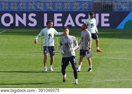 Kyiv, Ukraine - October 13, 2020: Goalkeeper Kepa Runs During The Training Session Of Spain National