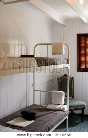 Interior Of A Cabin Of A Vintage Steamship