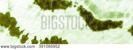 Abstract Aquarelle Painting. Green Grassy Dyed Pattern. Crumpled Vintage Craft. Abstract Watercolour