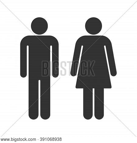 Man And Woman Avatar Icon Set. Male And Female Gender Profile Symbol. Men And Women Wc Logo. Toilet