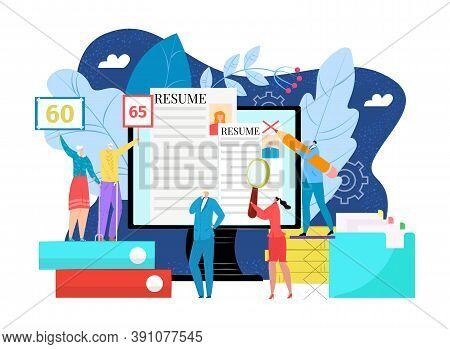 Ageism, Discrimination At Business Work Vector Illustration. Job Employment With Unfair Stamp At Old