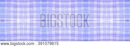 Purple Flannel Checks. Watercolor Picnic Repeat. Fashion Gingham Wallpaper. Seamless Flannel Checks.