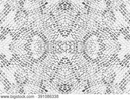Seamless Predator Pattern. Alligator Leather Animal Print. Rugged Exotic Illustration. Monochrome, B