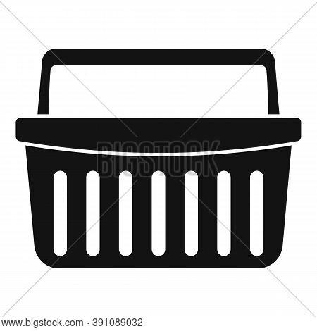 Hypermarket Shop Basket Icon. Simple Illustration Of Hypermarket Shop Basket Vector Icon For Web Des