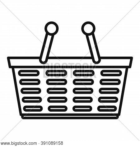 Purchase Basket Icon. Outline Purchase Basket Vector Icon For Web Design Isolated On White Backgroun