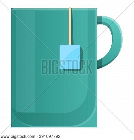 Tea Mug Icon. Cartoon Of Tea Mug Vector Icon For Web Design Isolated On White Background