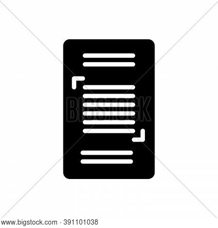 Black Solid Icon For Sentence Phrase Dictum Saw Period Text Message