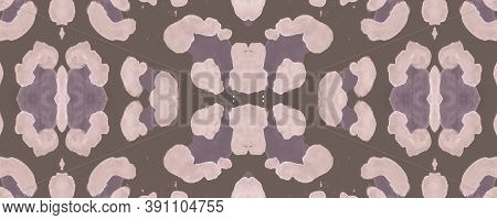 Brown Panther Imitation. Nude Spotted Leopard Border. Watercolour Tropical Background. Color Leo Pri