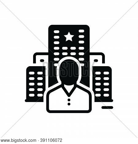 Black Solid Icon For Stay Remain Live Live-in Visit Holiday Hotel Guest-house
