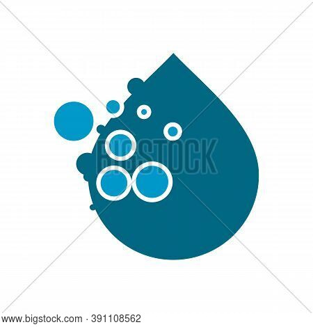 Simple Vector Droplet Pixel Design In Flat Style. Pixel Technology Droplet Sign Symbol. Vector Illus