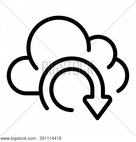 Recovery Data Cloud Icon. Outline Recovery Data Cloud Vector Icon For Web Design Isolated On White B