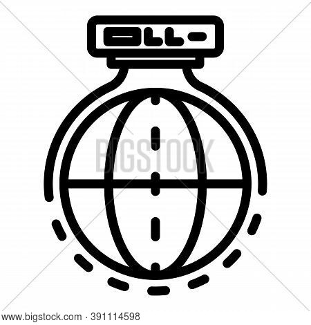 Coverage Global Network Icon. Outline Coverage Global Network Vector Icon For Web Design Isolated On